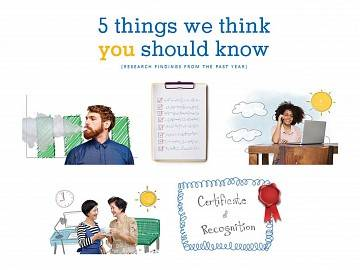Five images from 5 things you should know handout