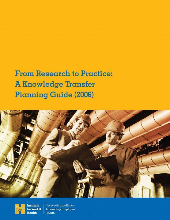Cover of From Research to Practice: A Knowledge Transfer Planning Guide