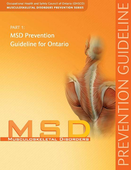 Front cover of the first guide in the MSD Prevention Series