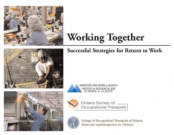 Cover of Working Together book, including three photos of workers in varying work situations